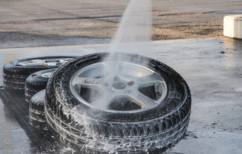 car wheel tire wash