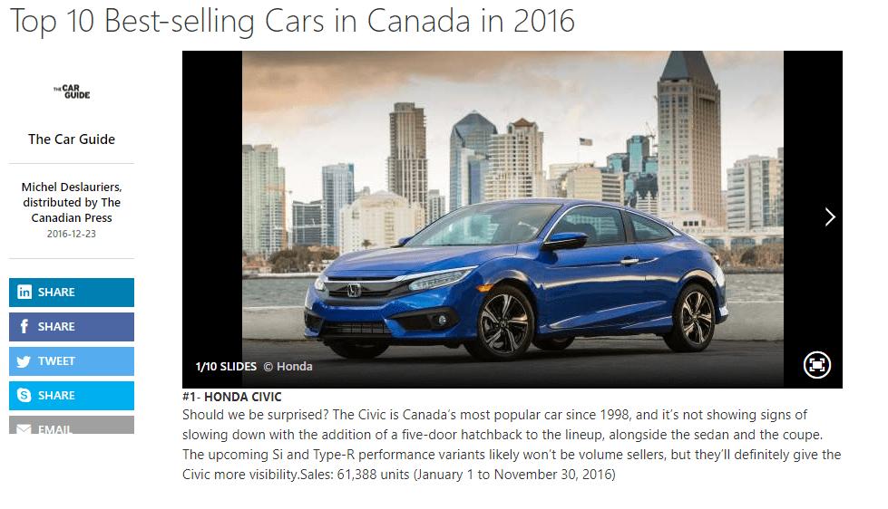 1. Honda Civic
