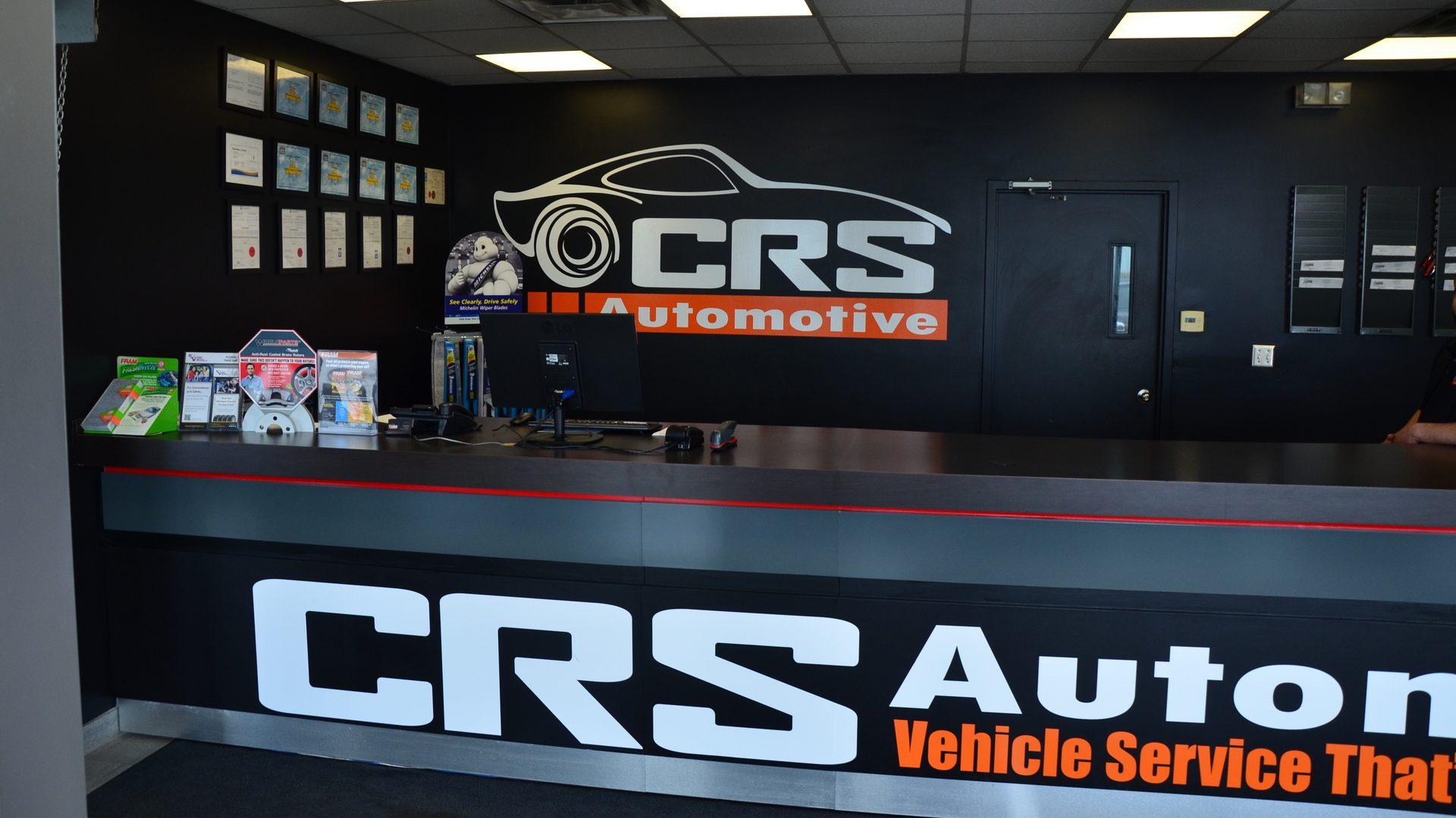 crs automotive front desk