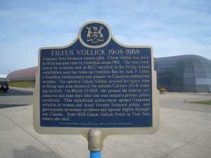eileen vollick plaque museum entrance