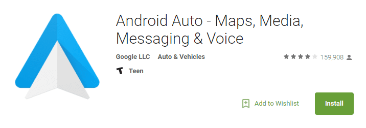 android auto app screenshot