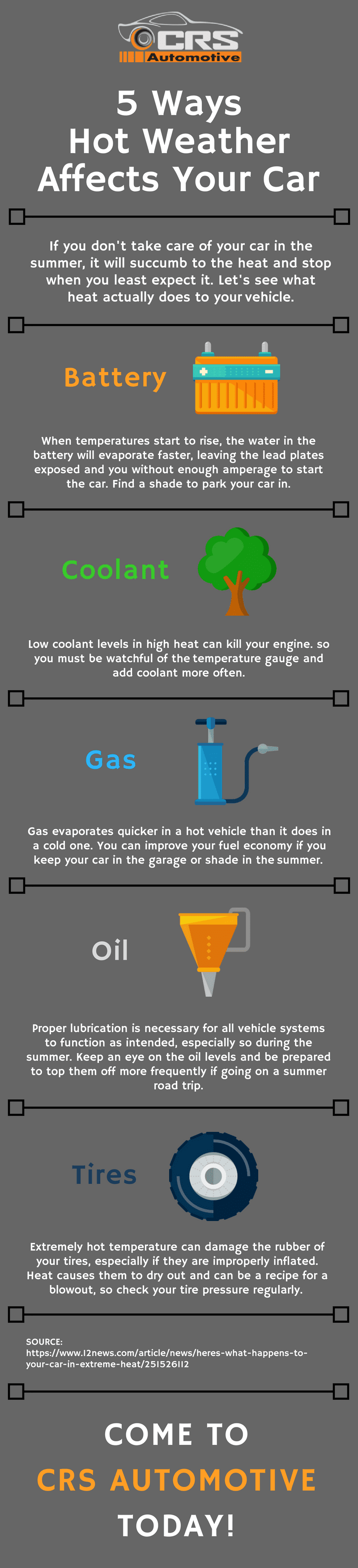 5 Ways Hot Weather Affects Your Car-INFOGRAPHIC