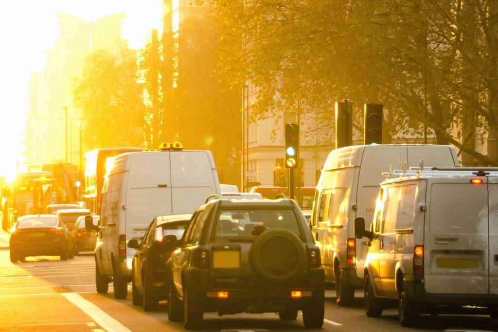cars in sun