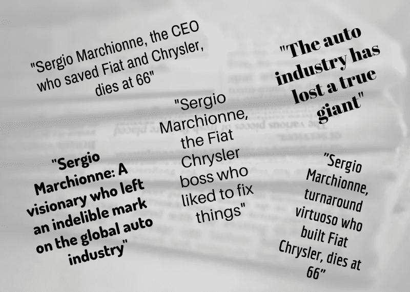 Sergio Marchionne Headlines