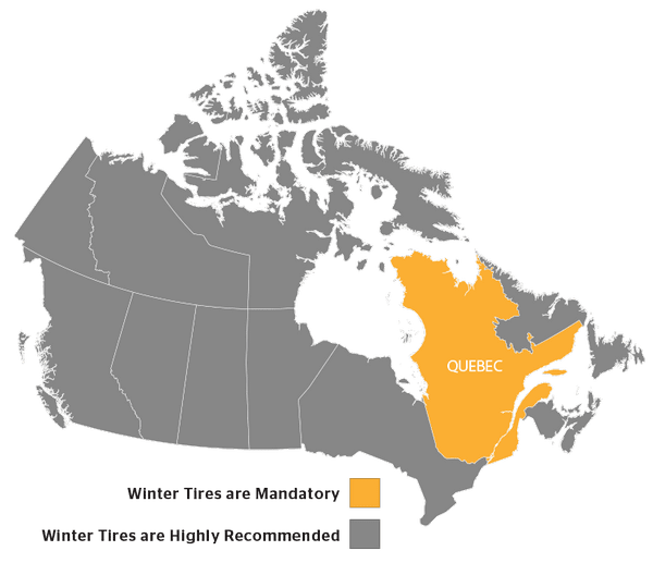 winter tires canada provinces