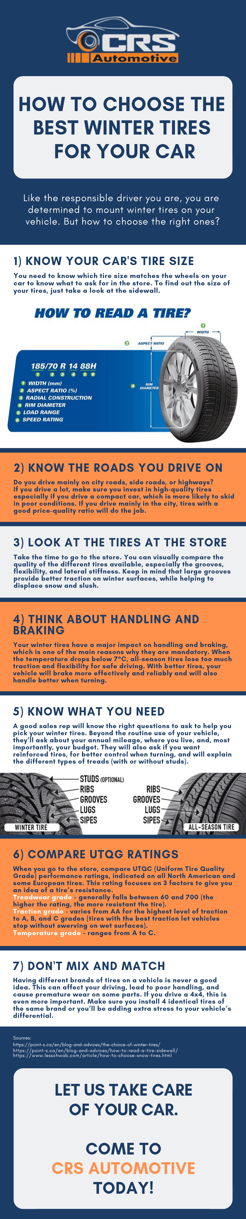 How To Choose The Best Winter Tires For Your Car Infographic