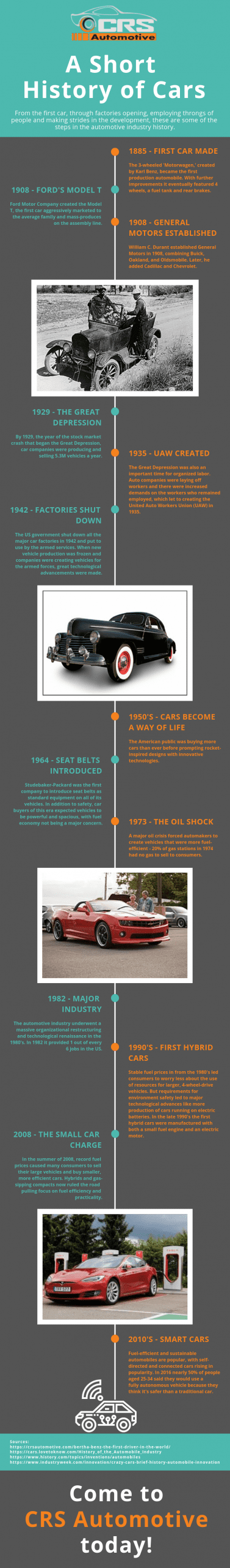 A Short History of Cars Infographic