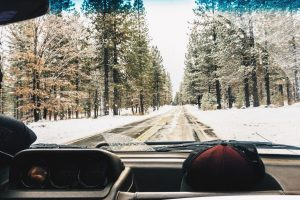 winter car driving skidding