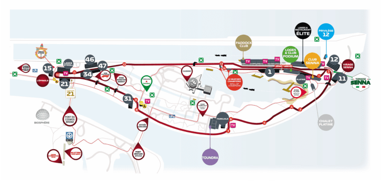 site map f1 canadian grand prix