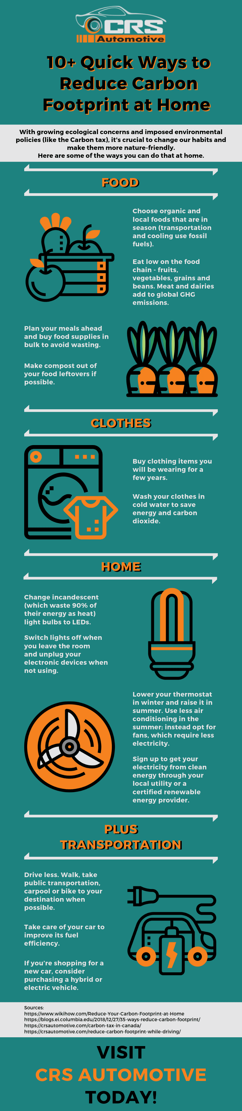 10 Quick Ways to Reduce Carbon Footprint at Home Infographic