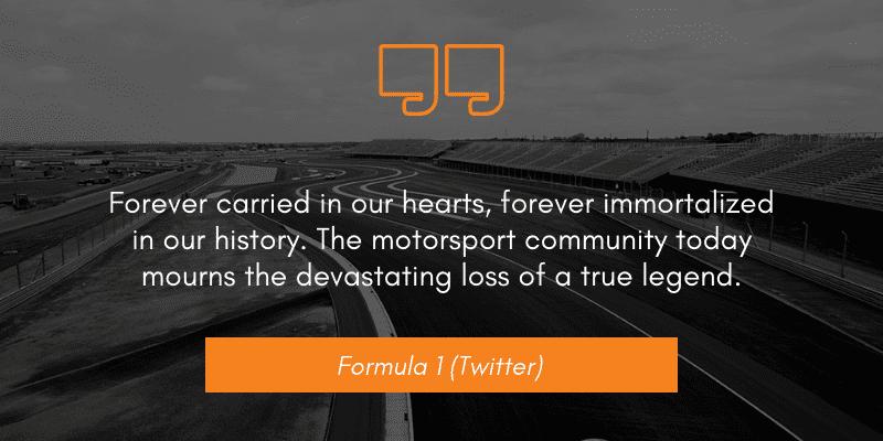 Formula 1 (Twitter) niki lauda dies